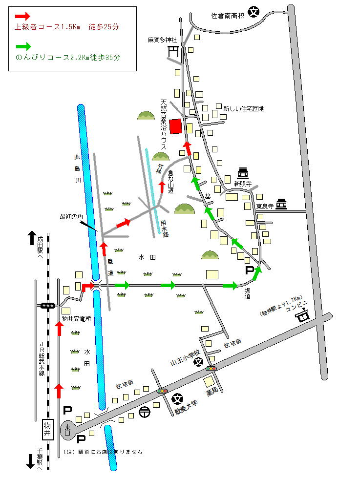 徒歩 5km 案内図